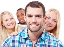 4 студента Стоковые Изображения