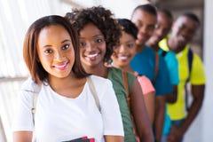 Студенты афро группы стоковые фотографии rf