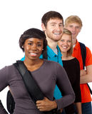 студенты группы коллежа разнообразные Стоковое Изображение