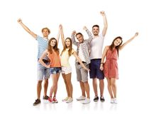 студенты группы счастливые Стоковая Фотография
