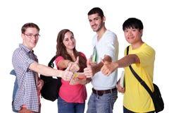 студенты группы счастливые Стоковые Изображения