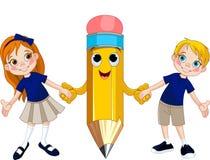 Студенты и карандаш Стоковая Фотография RF