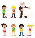 Студенты и проекты школьного учителя Стоковое фото RF