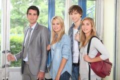 Студенты и учитель Стоковое Изображение RF