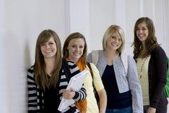 студенты коллежа женские Стоковая Фотография RF