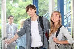Студенты на коллеже Стоковое Фото