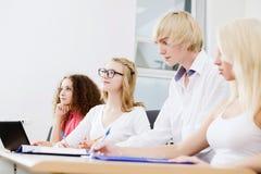 Студенты на уроке Стоковые Фото