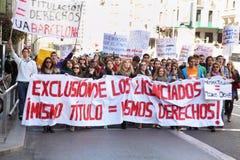 Студенты принимать демонстрация Стоковые Фото