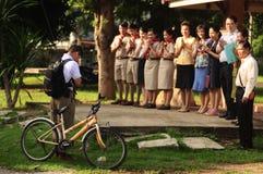 Студенты уважают для учителей Стоковая Фотография