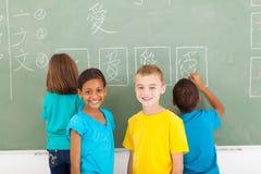 Студенты школы китайские Стоковое Фото
