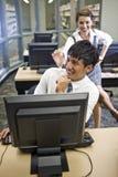 студенты 2 архива коллежа вися вне Стоковые Фото