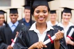Студент-выпускник афроамериканца Стоковая Фотография RF