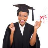 Студент-выпускник афроамериканца Стоковое Изображение