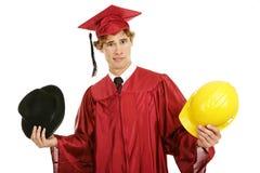 студент-выпускник карьеры смущенный выборами Стоковые Изображения RF