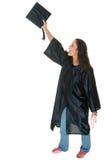 студент-выпускник получает детенышей женщины Стоковые Изображения