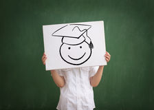 Студент-выпускник ребенк Стоковое фото RF