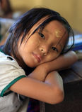Студент в Янгоне Стоковые Изображения