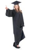 Студент девушки в хламиде Стоковая Фотография
