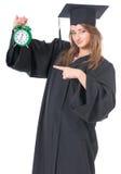 Студент девушки в хламиде Стоковые Фото