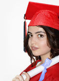 Студент девушки с дипломом Стоковая Фотография
