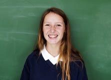Студент девушки с классн классным Стоковое фото RF