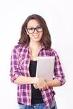 Студент девушки с таблеткой Стоковые Изображения RF