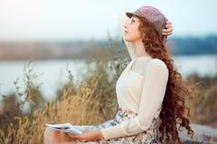 Студент или писатель на концепции природы Стоковое Фото