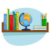 Студент книжных полок Иллюстрация вектора