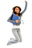 студент коллежа скача Стоковое фото RF