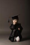 студент малыша диплома градуируя маленький Стоковая Фотография