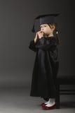 студент малыша диплома градуируя маленький Стоковое Изображение RF