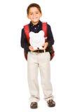 Студент: Мальчик держит копилку Стоковые Изображения RF