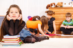 студент младшей школы Стоковая Фотография RF