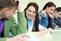 Студент на экзамене Стоковые Фотографии RF
