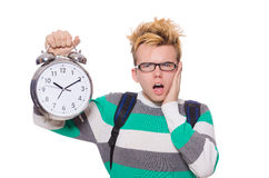 Студент пропуская его крайние сроки Стоковое Изображение RF