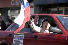 студент протеста Чили Стоковое Фото