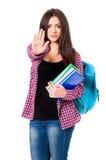 студент съемки близкой девушки вверх Стоковое Изображение RF