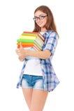 студент съемки близкой девушки вверх Стоковые Фотографии RF