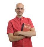 Студент с английским языком учебника Стоковое Изображение