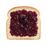 Студень виноградины на хлебе стоковое изображение