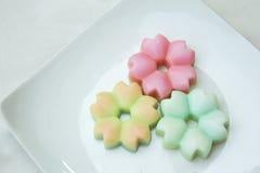 Студень кокоса десерта цветка Стоковые Изображения