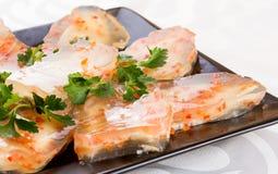 Студень от мяса с морковами стоковые фотографии rf