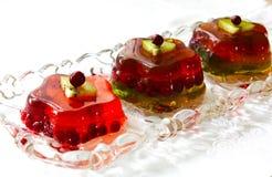 Студень поленики с ягодами Стоковое Фото
