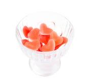 Студень плодоовощ в форме сердца Стоковые Изображения RF