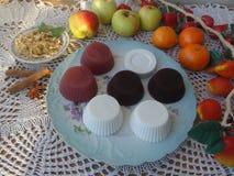 Студень ягод плодоовощ с циннамоном стоковые изображения rf