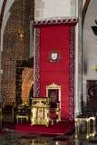 Стул епископа собора Gniezno Стоковые Фотографии RF