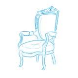 стул деревянный иллюстрация штока