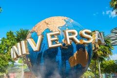 Студии Universal 26-ого января 2014 в острове Sentosa, Сингапуре Стоковая Фотография