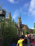 Студии Universal Орландо Флорида замка Hogwarts Стоковое Изображение