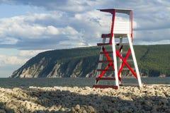 Стул личной охраны пляжа Ingonish стоковое фото rf